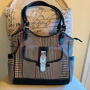 Chaps Ralph Lauren Houndstooth Tote/Shoulder Bag